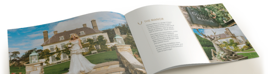 Gileston Manor wedding brochure